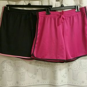 Two pair workout shorts Xl